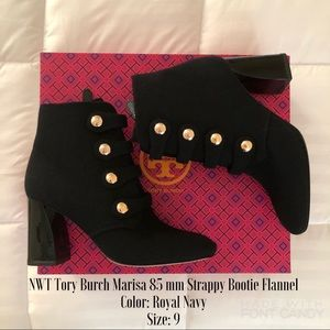 5280fd4b8a5 Tory Burch Shoes - NWT Tory Burch Marisa 85mm Strappy Bootie Flannel
